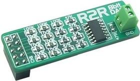 MIKROE-391, R2R DAC Board, Дочерний модуль 8-бит ЦАП на основе делителя напряжения