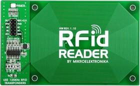 Фото 1/4 MIKROE-262, RFid Reader Board, Плата RFID считывателя на базе EM4095