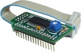 Фото 1/2 MIKROE-151, Serial LCD Adapter Board, Плата для подключения дисплея LCD 2x16-4x20