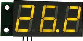 SVH0001UY-100, Цифровой встраиваемый вольтметр 0...99,9В, ультра яркий желтый индикатор