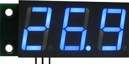 SVH0001UB-100, Цифровой встраиваемый вольтметр 0..99,9В, ультра яркий голубой индикатор