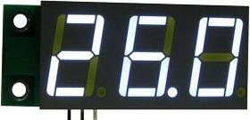 SVH0001UW-100, Цифровой встраиваемый вольтметр 0..99,9В, ультра яркий белый индикатор