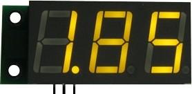 SVH0001UY-10, Цифровой встраиваемый вольтметр 0..9.99В, ультра яркий желтый индикатор