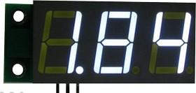 SVH0001UW-10, Цифровой встраиваемый вольтметр 0..9,99В ультра яркий белый индикатор