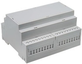 Фото 1/2 D6MG, Корпус на DIN-рейку, 106.25х90.2х57.5мм, светло-серый