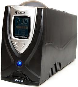 Фото 1/2 GYPER GPR-850, Источник бесперебойного питания (ИБП/UPS), 850ВА/510Вт, IEC+Schuko, line-interactive, черный
