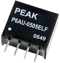 P6AU-1212ELF, DC/DC преобразователь, 1Вт, вход 10.8-13.2В, выход 12В/84мА