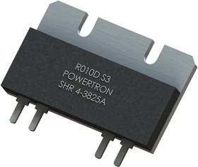 SHR 4-3825 0R010 A 1% M, Резистор в сквозное отверстие, 0.01 Ом, SHR 4-3825 Series, 50 Вт, ± 1%, SIP, 500 В
