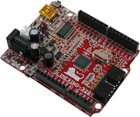 Фото 1/3 OLIMEXINO-328, Отладочная плата форм-фактора Arduino на базе ATMEGA328