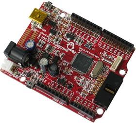 Фото 1/3 PIC32-PINGUINO, Отладочная плата форм-фактора Arduino на базе PIC32MX440F256H