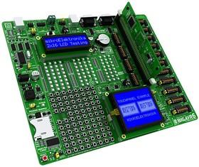 Фото 1/4 MIKROE-456, BIGAVR6 Development System, Полнофункциональная отладочная плата для изучения МК Atmel AVR
