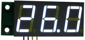 Фото 1/2 SAH0012UW-50, Цифровой встраиваемый амперметр (до 50А) постоянного тока (ультра яркий белый индикатор)