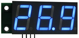SAH0012UB-50, Цифровой встраиваемый амперметр (до 50А) постоянного тока ( ультра яркий голубой индикатор)