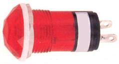 N-810R, Лампа неоновая с держателем красная 220V