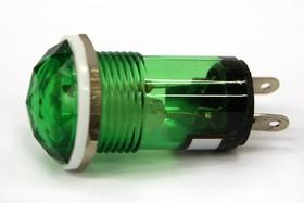 N-810G, Лампа неоновая с держателем зеленая 220V