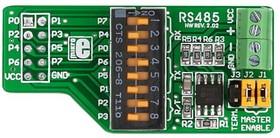 Фото 1/4 MIKROE-66, RS485 Board, Дочерняя плата с RS 485 интерфейсом