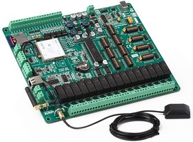 Фото 1/4 MIKROE-551, AVRPLC16 V6 PLC System, Лабораторный стенд для разработки систем автоматики на базе ATmega32