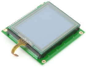 MIKROE-240, Graphic LCD 128x64 with TouchPanel, Графический дисплей формата 128х64 с сенсорной панелью (ME-GLCD 128x64 with TouchPanel)