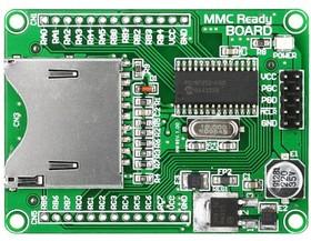 Фото 1/2 MIKROE-545, MMC Ready Board, Оценочная плата для разработки устройств с MMC/SD интерфейсом