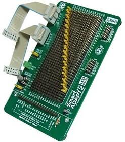 Фото 1/2 MIKROE-207, SmartADAPT2 with GLCD Connector, Макетная плата с разъемом для LCD/GLCD для быстрого конфигурирования 2-х портов
