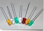 Фото 1/2 521-9674F, LED Uni-Color Green 565nm 2-Pin T-1 3/4 Bulk