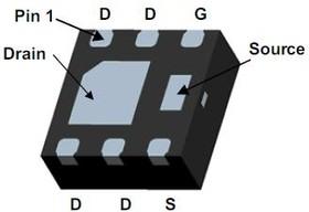 FDMA291P, Транзистор, PowerTrench, P-канал, -20В, -6.6А [MicroFET 2x2]