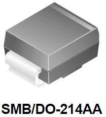 Фото 1/3 SMBJ24A, Защитный диод, 600Вт, 24В, [SMB / DO-214AA]