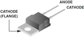 VS-MUR1520PBF, Ультрабыстрый диод 15А 200В [TO-220AC]