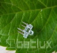 "BL-FL7653PGC, Светодиод ""Пиранья"" зеленый чистый 30/90"" 2800мКд 525нМ (Ultra Pure Green)"