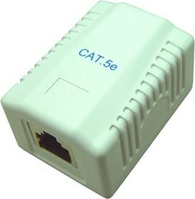 HYC-B061111 (NC-MB2EMUWH) ( GE-342 R), Розетка компьютерная RJ-45 х 1 на стену CAT.5e