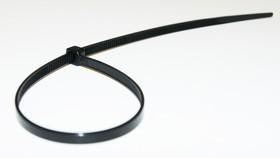 ALT-250L-B, Стяжка неоткрывающаяся с фиксатором 4.8х250мм, черная (уп. 100 шт.)