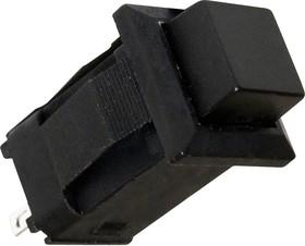 PBS-15A black, Кнопка квадратная с фиксацией ON-OFF (1A 250VAC), черная