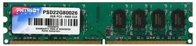 Фото 1/2 МОДУЛЬ ПАМЯТИ PATRIOT,Модуль памяти PATRIOT DDR2- 2Гб, 800, DIMM, Ret