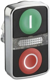 ZB4BW7A3741, ILL DBLE PUSHBUTTON HEAD GREEN I RED O