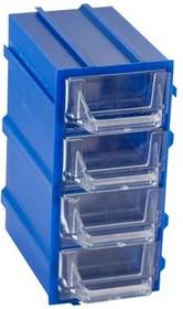 К5-П2 синий, кассетница 4 ячейки 12 секций 49х82х100мм