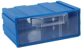 К1 синий, кассетница прозр. лоток 131х107х57мм