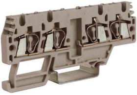 Зажим проходной HMM.2/2+2/AGR 2.5кв.мм 2 ввод/2вывода сер. DKC ZHM170GR
