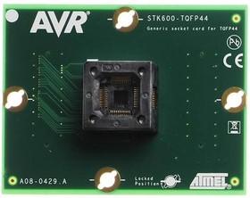 ATSTK600-TQFP44 (ATSTK600-SC06), Дочерний модуль с ZIF-сокетом под корпус TQFP44 для ATSTK600