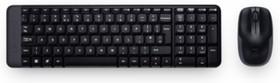 Фото 1/2 Комплект (клавиатура+мышь) LOGITECH MK220, USB, беспроводной, черный [920-003169]