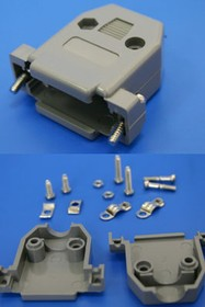 DPT-9C-G, Корпус разъема 9 контактов с удлиненными винтами, серый