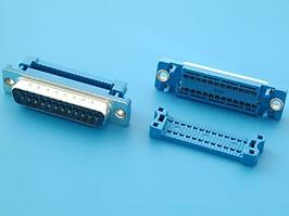 DI-25M, Разъем 25 контактов, вилка на плоский кабель