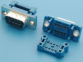 DI-9M, Разъем 9 контактов, вилка на плоский кабель