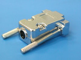 DNT-9C, Корпус разъема 9 контактов с удлиненными винтами, металлизированный