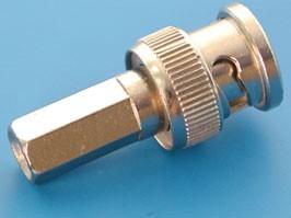 BNC-U58P, Разъем BNC вилка на кабель RG-58, накручивающийся