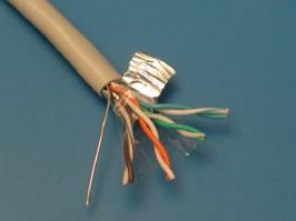 FTP4-24R5, Кабель Витая пара 8 проводов, кат. 5е (PCnet),бухта 305м , экранированный , серый