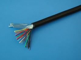 CCC18GB, Кабель коммуникационный 18 проводов, бухта 50м, экранированный, черный