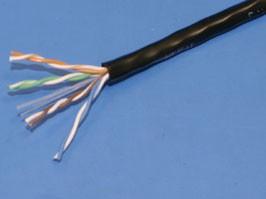 UTP4-24R5PE, Кабель Витая пара 8 проводов, кат. 5е, (PCnet), бухта 305м, для внешней прокладки (-60 +60), черный
