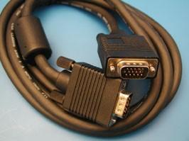 SCF-14/P, Кабель для монитора VGA 15(п)-15(п) c ферритовым кольцом 1.8м (СS-035)