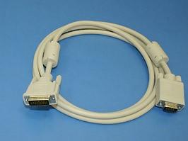 3263-2M, Кабель DVI 29 (п) - HD 15 (п), 2.0 м, (с ферритовым кольцом)