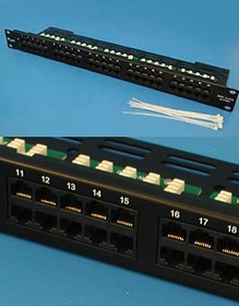 ISDN-50KRB, Патч-панель телефонная, 50 портов, RJ-45, универсальная, PCnet